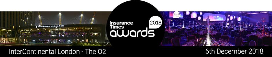 Insurance Times Awards 2018 | InterContinental O2 – London | Thursday 6th December